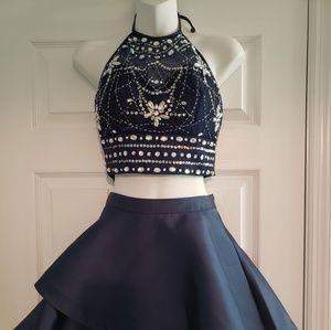 Short 2 piece homecoming dress
